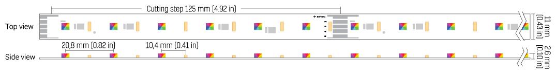 Architape RGBW 100/25/835 nichia 2